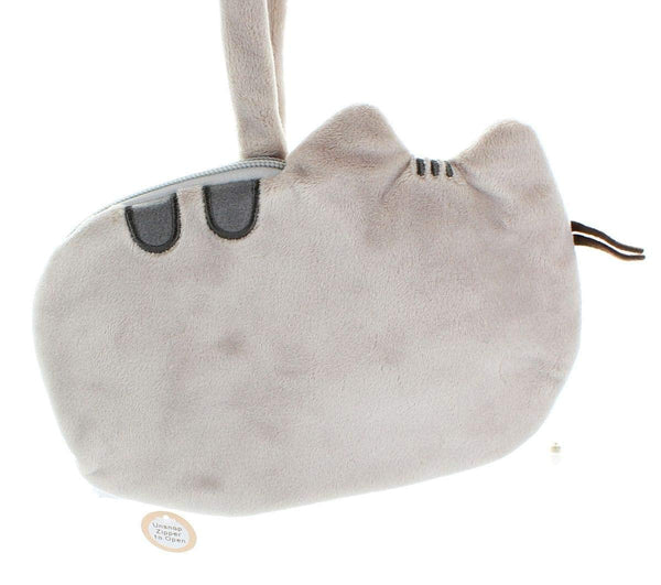 Pusheen Cat Plush Wrislet Purse, Gray, 8""