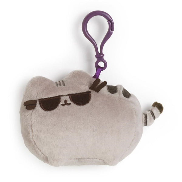 Pusheen with Sunglass Backpack Clip 4.5""