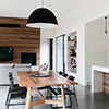 Otway dining table in a contemporary Australian home setting with black chairs