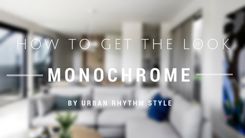 How to get the monochrome look