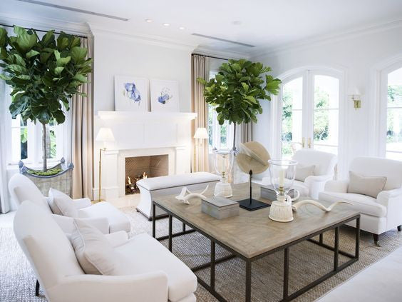 6 ways to warm up white walls in your living room by - White walls living room ...