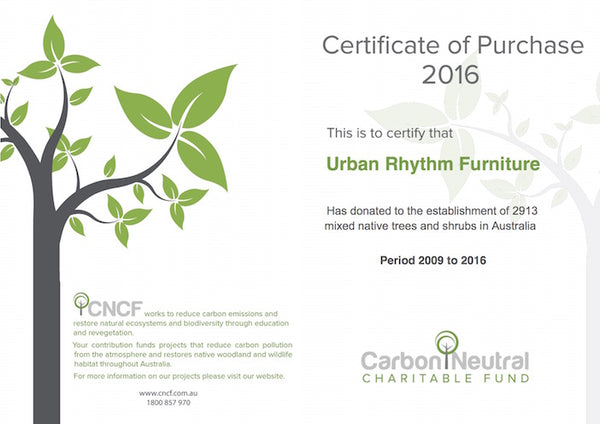 Carbon Neutral Certificate of purchase
