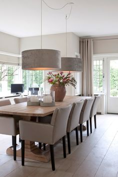 Dining room made to look more luxurious with lighting