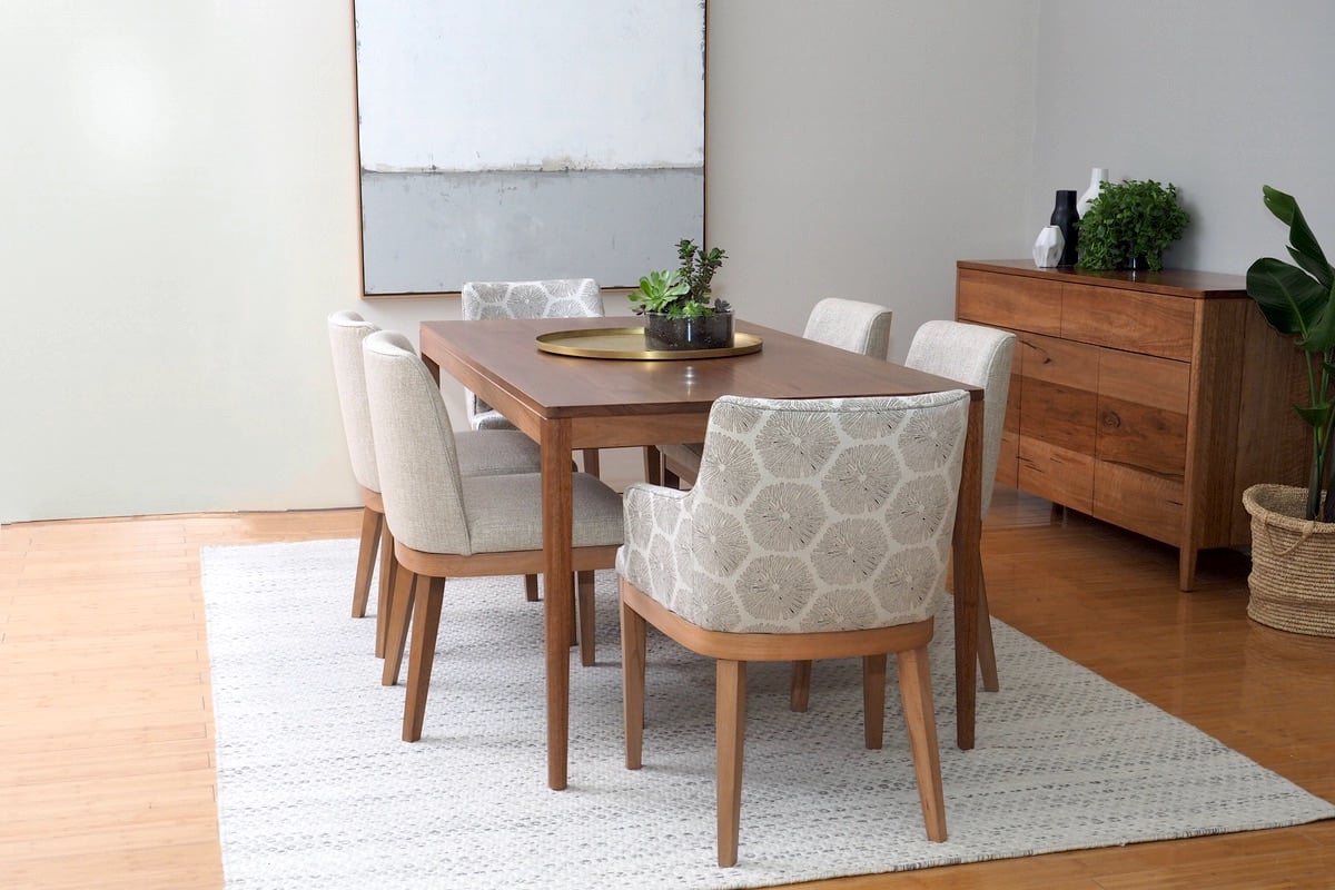 Dining room furniture, featuring Jervis dining table and Kingston dining chairs and carver chairs