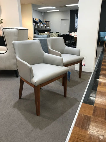 Kingston carver chairs in leather