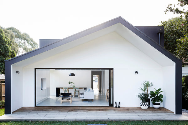 Black and white minimalist house