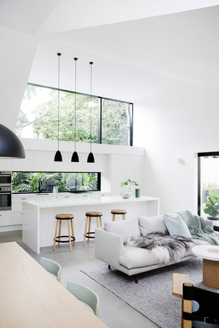 Interior Of House With A White Kitchen