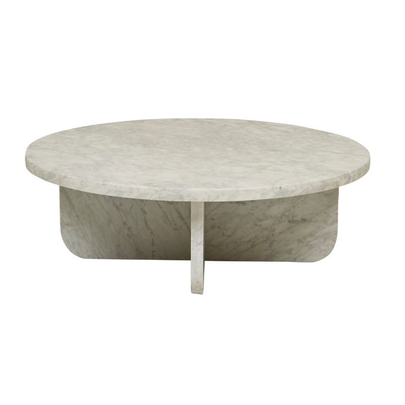 Amara Curve Marble Coffee Table - White