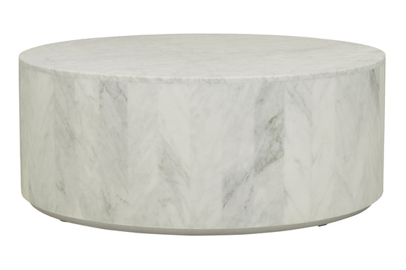 Elle Round Block Marble Coffee Table