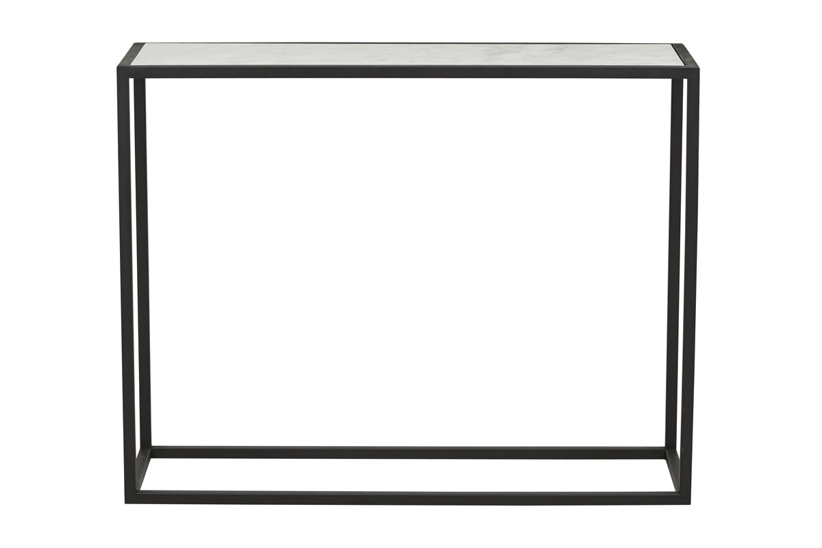 Elle Cube Marble Console Table