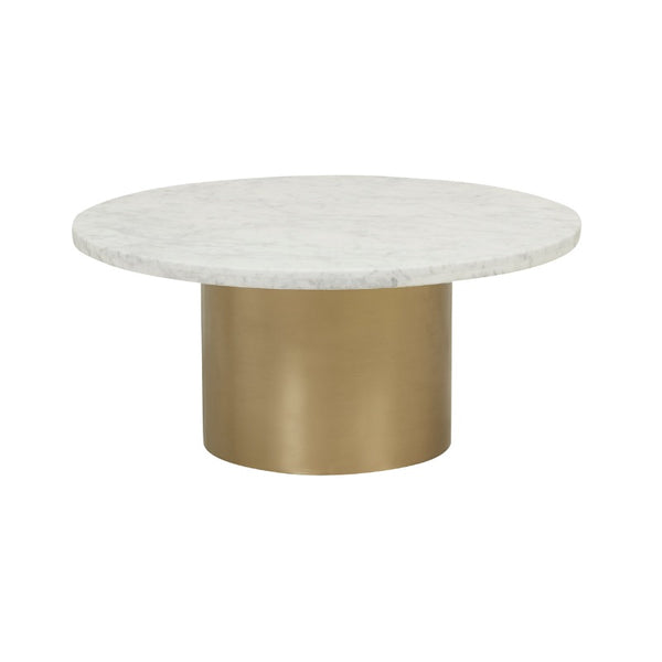 Elle Pillar Marble Coffee Table