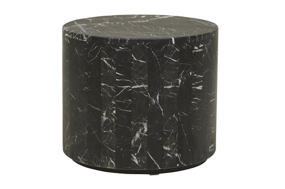 Elle Round Block Side Table - Black