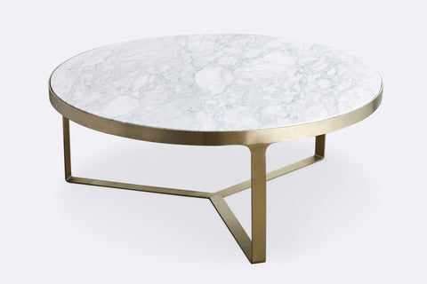Julius Marble Coffee Table - Brushed Gold