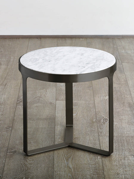 Julius Marble Side Table - Gunmetal (black)
