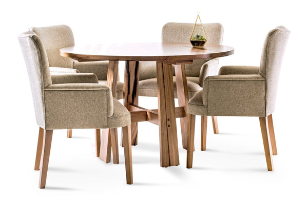 Round Otway dining table with Dane Carver chairs