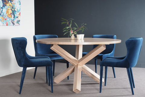 X-Base Round Dining Table