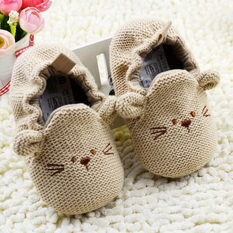 Brown Mouse Knitted Shoes - Dottie D Shopping