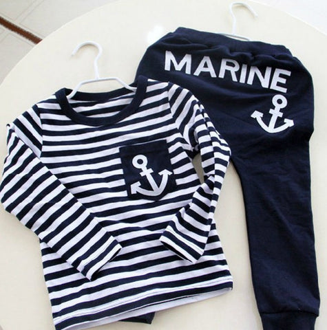Marine Casual Boys Clothing Set - Dottie D Shopping