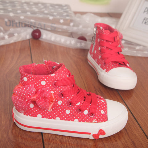 High Bowknot Canvas Shoes - Dottie D Shopping