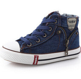 Denim Style Canvas Sneakers - Dottie D Shopping