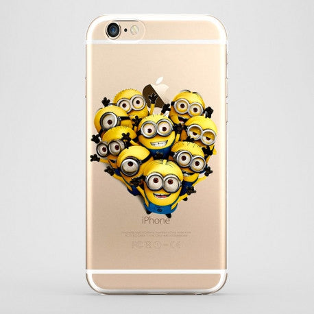 Minion Design Transparent Phone  Case - Dottie D Shopping