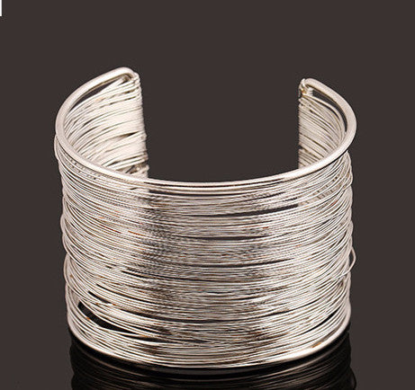 Metal Multilayer Strings Bangle - Dottie D Shopping