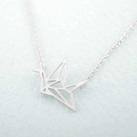 Origami Crane Necklace - Dottie D Shopping