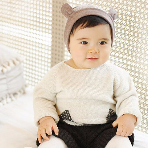 Cute Ears Striped Beanie - Dottie D Shopping
