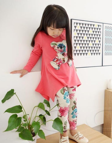 Floral Teddy Clothing Set - Dottie D Shopping