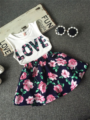 Floral Love Clothes Set - Dottie D Shopping