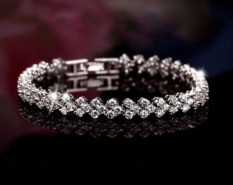 Heart-shaped CZ Diamond Bracelet - Dottie D Shopping