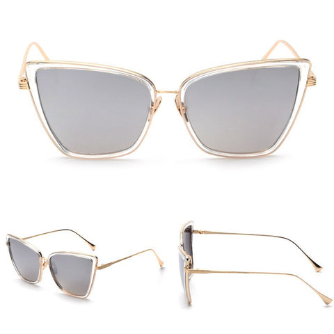 Luxurious Metal Cat Eyeglasses - Dottie D Shopping