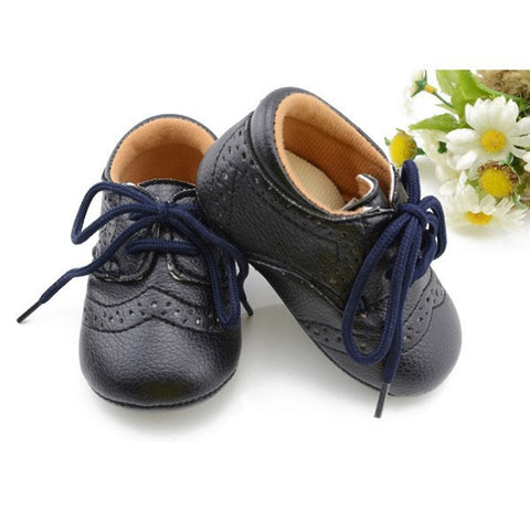 Lace-Up Leather Baby Shoes - Dottie D Shopping