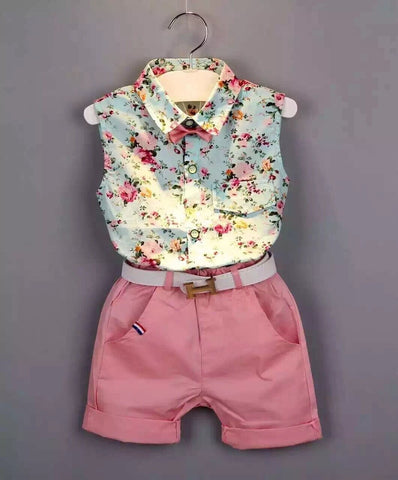 Floral Casual Clothing Shorts Set - Dottie D Shopping