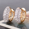 Image of Round Crystal Hoop Earrings - Dottie D Shopping