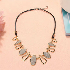 Image of Chunky Gold Chain Bib Necklace