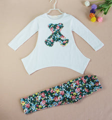 Floral Teddy Clothing Set