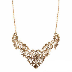 Flower Lace Chain Necklace - Dottie D Shopping