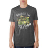 Image of Teenage Mutant Ninja Turtles Where's The Party? Charcoal T-Shirt