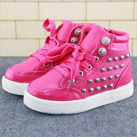 Kiddie Rivet High Top Sneakers - Dottie D Shopping