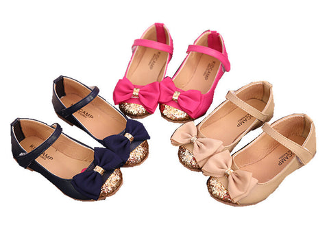 Ribbon Leather Flats - Dottie D Shopping