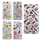 Girly MakeUp Lips Big Eyes Pineapple Secret Unicorn Rainbow Flamingo Soft Phone Case For iPhone 4 5 6 7 S Plus SE 5C