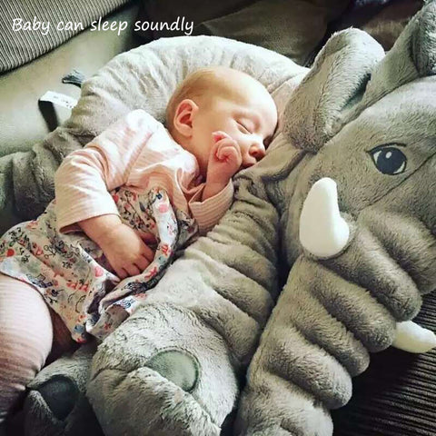 Soft Baby Elephant Pillow Children Sleeping Cushion Room Baby Bedding Pillows Decoration Toys Kids Calm Doll Car Seat Plush