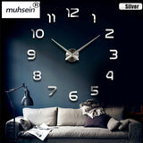 New Home decoration wall clock big mirror wall clock Modern design large size wall clocks diy wall sticker unique gift