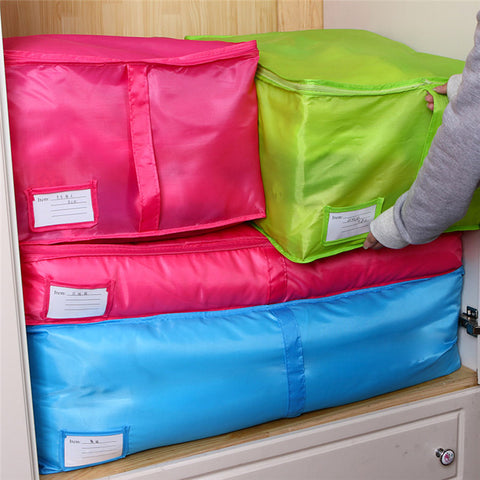 Polyester Home Quilt Storage Bag Bedding Duvet Zipped Handles Laundry Floding Wardrobe Clothes Storage Bags Home Organizer