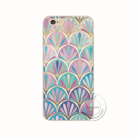 Shell For Apple iPhone 5 5S SE 5C 6 6S 7 Plus 6SPlus Back Case Cover Printing Mandala Flower Floral Cell Phone Cases