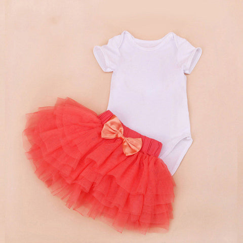 Tutu Baby Newborn Clothing Set Summer Girls Bebe 0-2T Infant Skirt Bodysuits Tutu Romper Sets 2 Pieces Rope Newborn Clothing Set