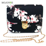 Floral Print Women Leather Handbags Chains Shoulder Crossbody Bag Women Bag Satchel Tote Women Messenger Bags Bolsa Feminina