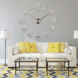 New Home decoration wall clock big mirror wall clock Modern design,large size wall clocks.diy wall sticker unique gift watch
