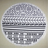 Large  Microfiber  Round Beach Towels  /150cm  Diameter With Tassels Sunbath beach Towels